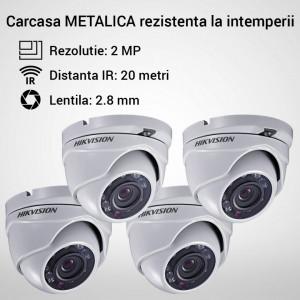 Kit Hikvision CCTV 4 camere dome TurboHD 2.0MP MK060-KIT10