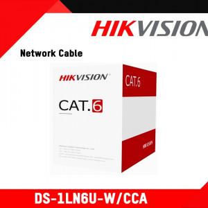 Cablu U/UTP Cat.6, 4xAWG23, PVC, portocaliu, cutie 305m, aluminiu cuprat DS-1LN6U-W/CCA