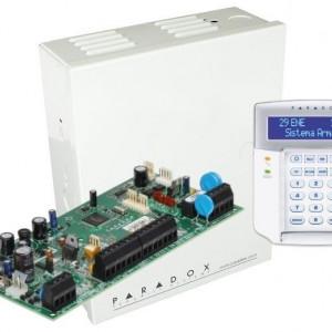 Centrala Paradox Spectra cu 5 zone cutie si tastatura SP5500(CT)+K32LCD
