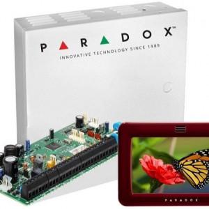 Centrala Paradox Spectra cu 8 zone cutie si tastatura 5inch SP6000(CT)+TM50(L)