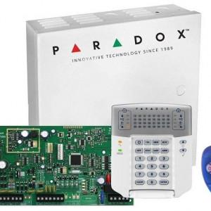 Kit Centrala Magellan Paradox 5 intrari pe placa cutie tastatura si telecomanda MG5050(CT)+K32++REM1