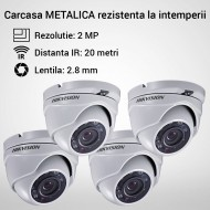 Kit Hikvision CCTV 4 camere dome TurboHD 2.0MP MK060-KIT10