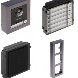 Post exterior HikVision 3 module aparent DS-KD8003-IME1/Surface+DS-KD-M+DS-KD-KK+DS-KD-ACW3