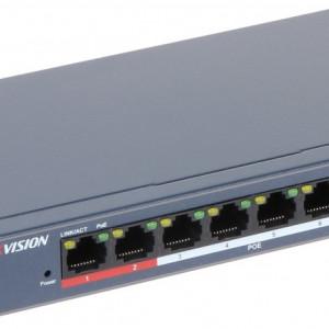 Switch 8 porturi PoE Hikvision carcasa metalica DS-3E0109P-E/M(B)
