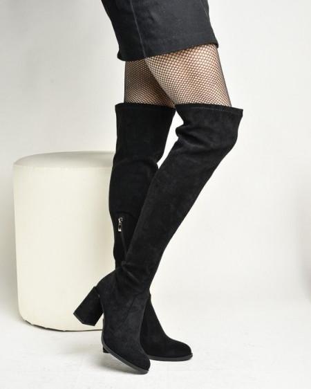 Slika Čizme preko kolena na stiklu XJ1130-HY1696-1 crne