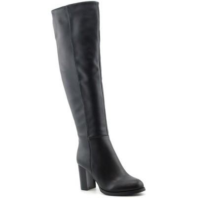 Slika Duboke čizme na štiklu LX85671 crne