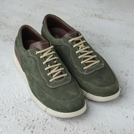 Slika Kožne muške patike/cipele SF401-3 zelene