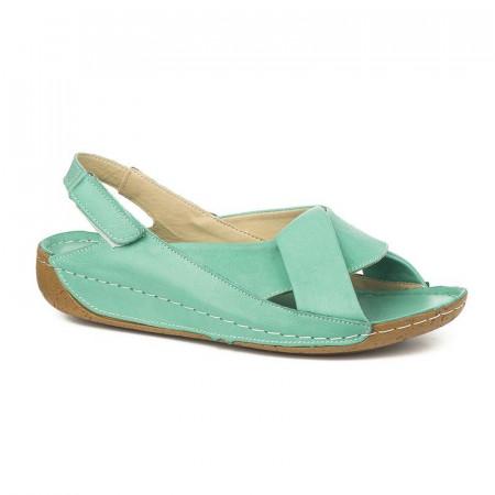Slika Kožne udobne sandale 610 tirkiz