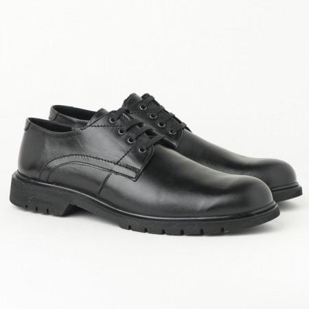 Slika Muške kožne cipele 5616-01 crne