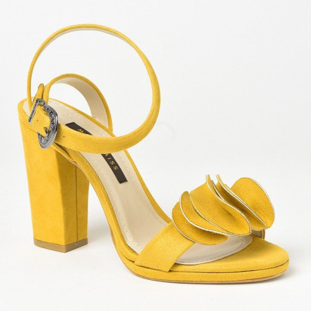 Slika Sandale na štiklu 7467 oker žute