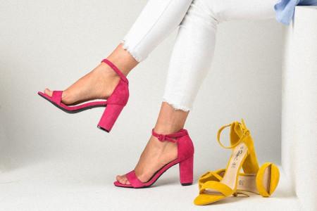 Slika Sandale na štiklu LS241918 pink