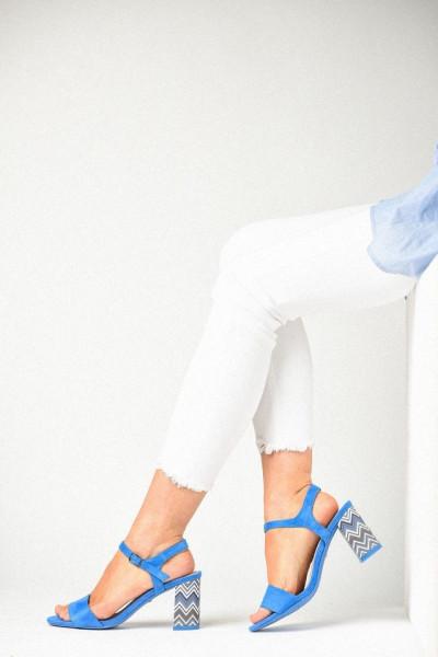 Slika Sandale na štiklu LS381900 plave