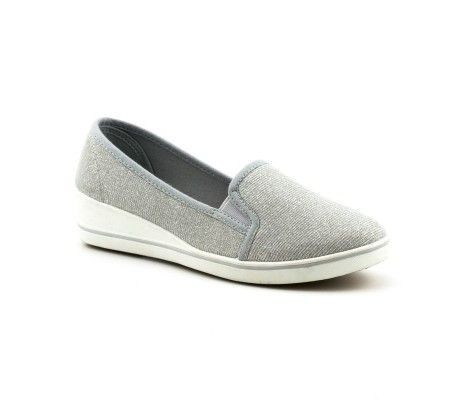 Slika Ženske cipele / mokasine L80257-1 sive