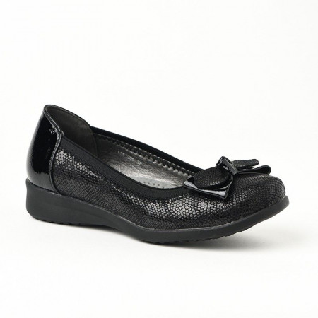 Slika Ženske lakovane cipele / baletanke L551905 crne