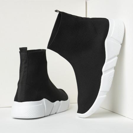 Slika Čarape patike 42200 crne sa belim đonom