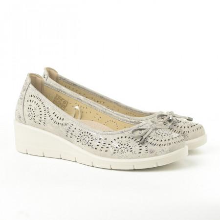Slika Cipele na malu petu L020607 sive