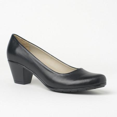 Slika Kožne cipele na malu štiklu 700 crne