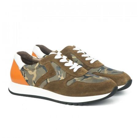 Slika Kožne muške cipele / patike PA25621-6 maslinaste