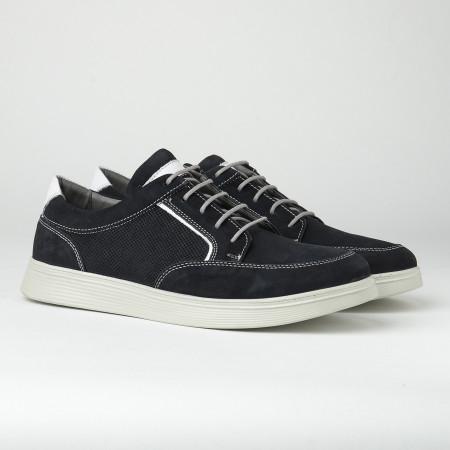 Slika Kožne muške patike/cipele 20410-8 tamno teget