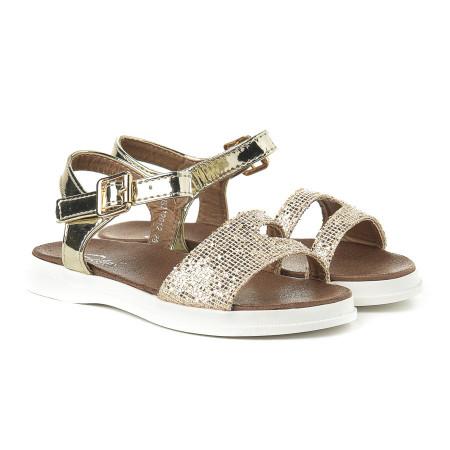 Slika Sandale za devojčice CS272015 zlatne (brojevi od 31 do 35)