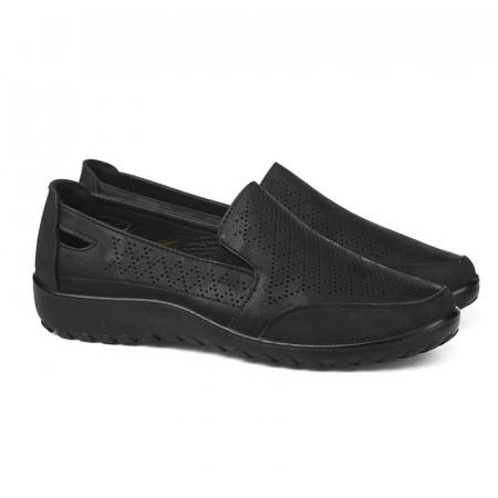 Slika Ženske cipele / mokasine L90300 crne