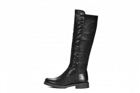 Slika Ženske duboke ravne čizme LX282003 crne