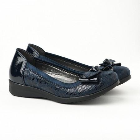 Slika Ženske lakovane cipele / baletanke L551905 teget