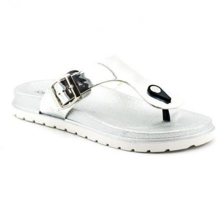 Slika Ženske papuče LP91305 srebrne