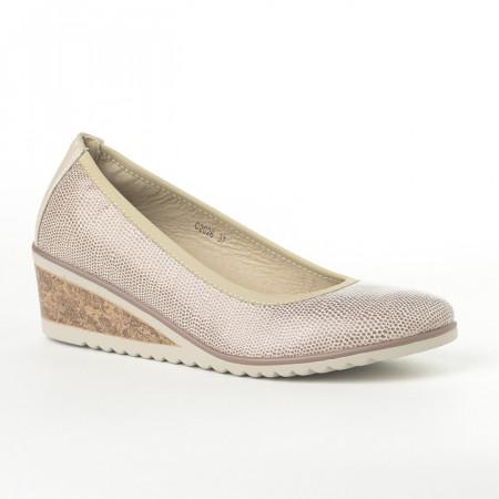 Slika Cipele na malu petu C2026 bež