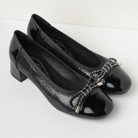 Slika Cipele na malu štiklu C2139 crne