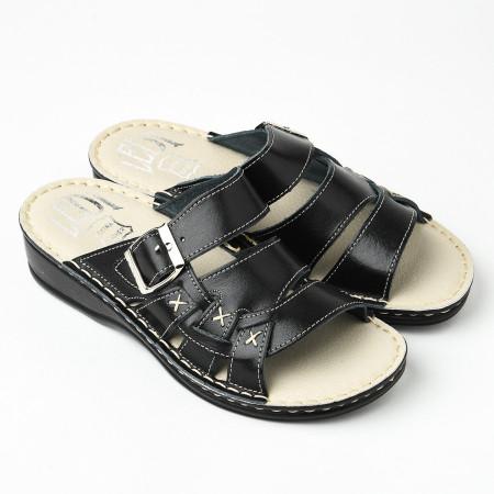 Slika Kožne papuče 641 crne