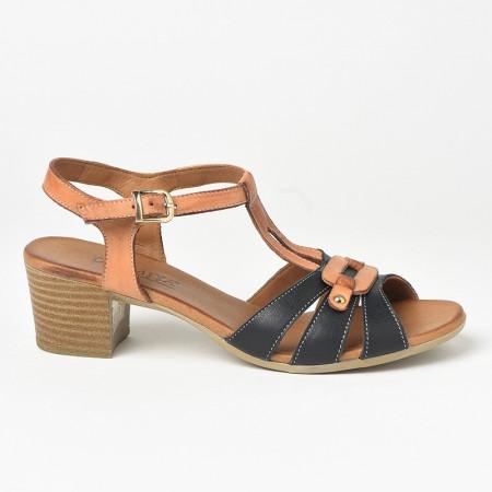 Slika Kožne sandale na štiklu 106 crne