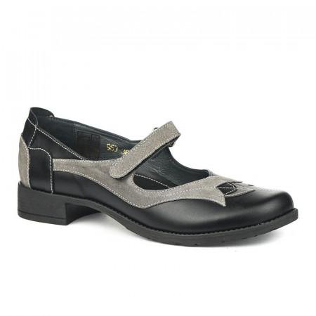 Slika Kožne ženske cipele 2-963 crne