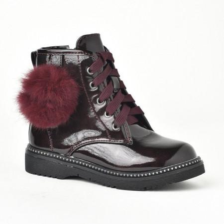 Slika Lakovane čizme za devojčice BH251932 bordo
