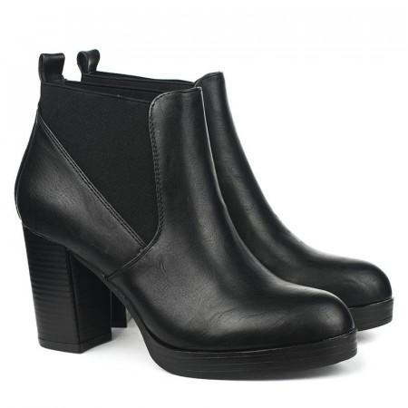 Slika Poluduboke čizme na štiklu A437 crne