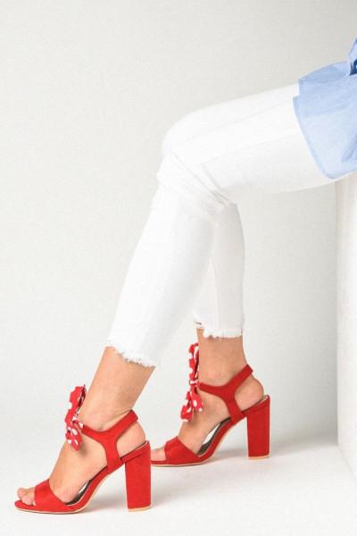 Slika Sandale na štiklu LS391903 crvene