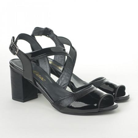 Slika Sandale na štiklu T141 crne