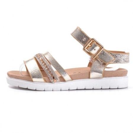 Slika Sandale za devojčice BS27851 zlatne (brojevi od 25 do 30)