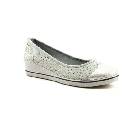 Slika Ženske cipele / mokasine L80840-1 sive