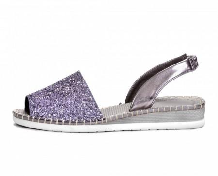 Slika Ženske sandale sa šljokicama LS061901 tamno srebrne
