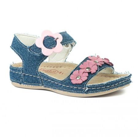 Slika Anatomske sandale za devojčice 415 teksas