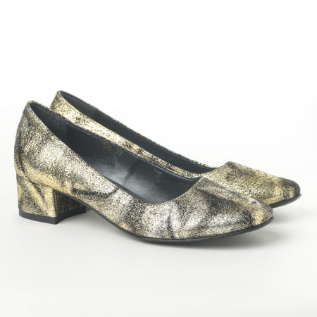 Slika Cipele na malu štiklu K-126/8 zlatne
