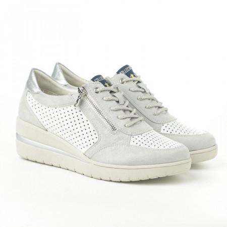 Slika Cipele/patike P302 belo srebrne