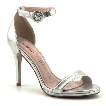 Slika Elegantne sandale na štiklu LS80723 srebrne