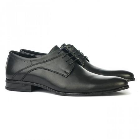 Slika Kožne cipele (veliki brojevi) L14877 crne