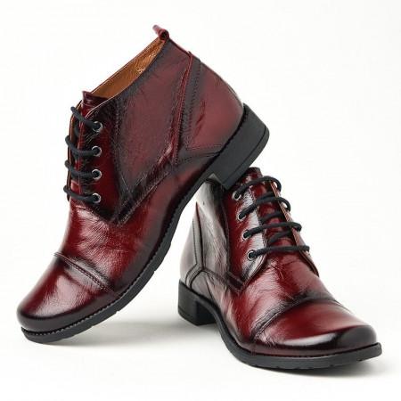 Slika Kožne duboke cipele 2-901 bordo
