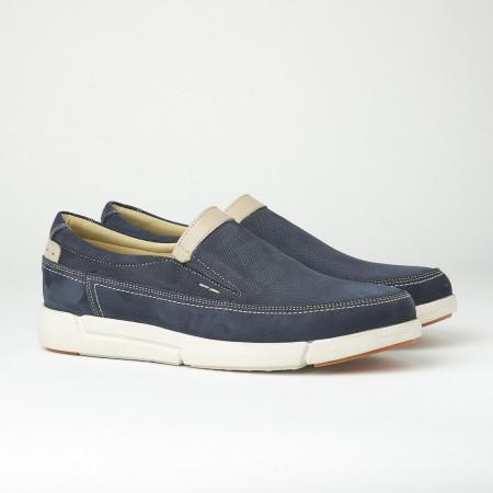 Slika Kožne muške cipele/mokasine SF401-4 teget