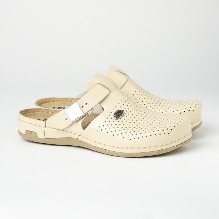 Slika Kožne papuče/klompe 950 bež