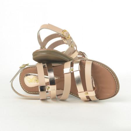 Slika Kožne ravne sandale E108/3 bež