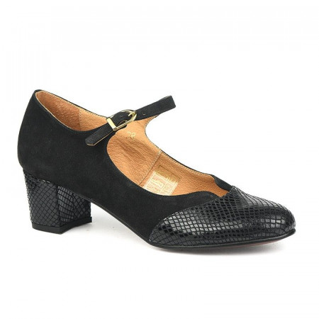 Slika Kožne ženske cipele 14-965 crne